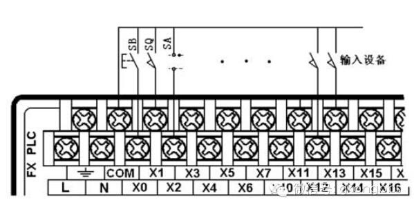 plc输入输出设备正确连接电路-明扬工控网