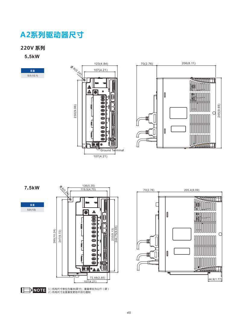 台达伺服驱动器编码器接线图