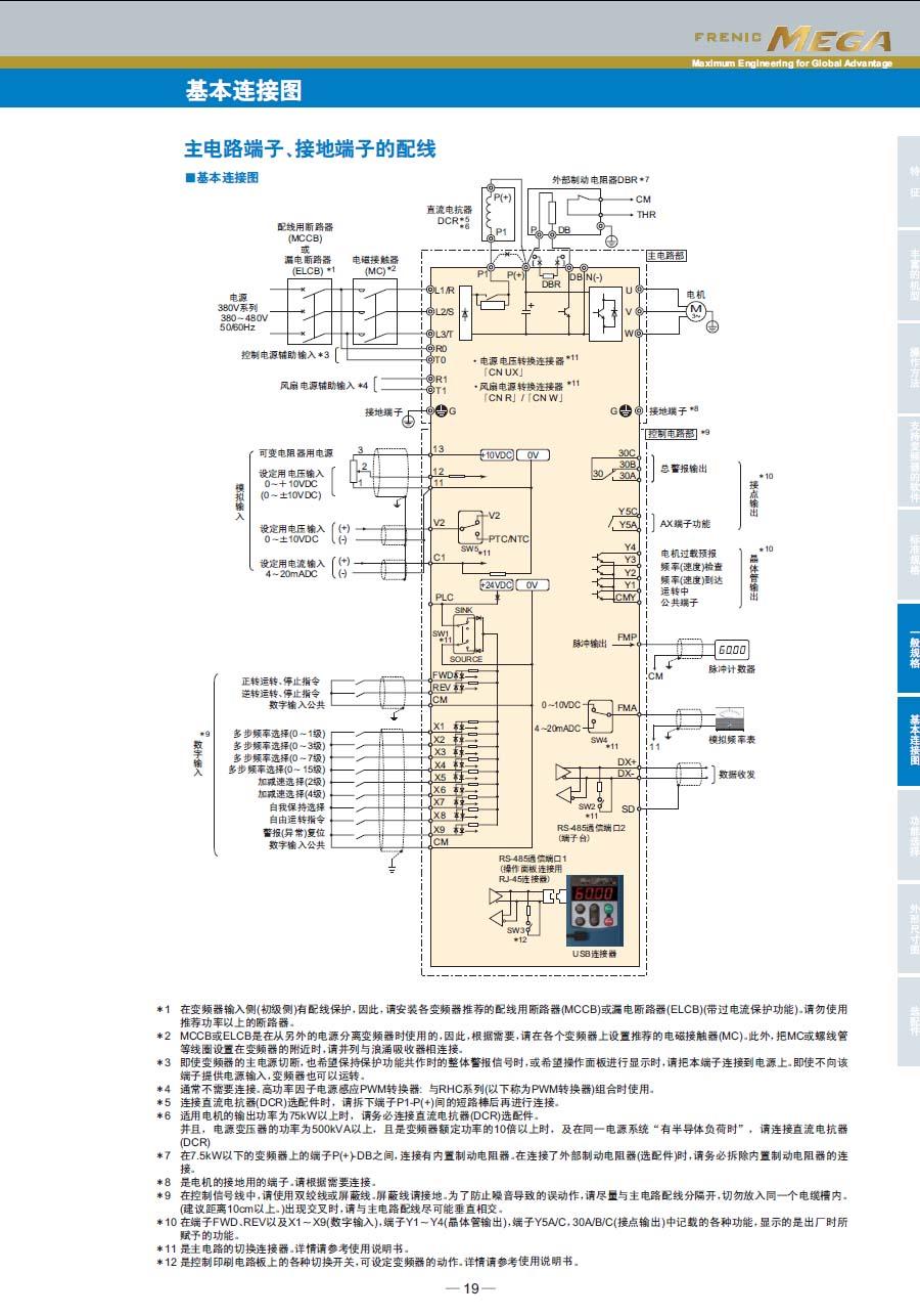 富士变频器 frn1.5g1s-4c