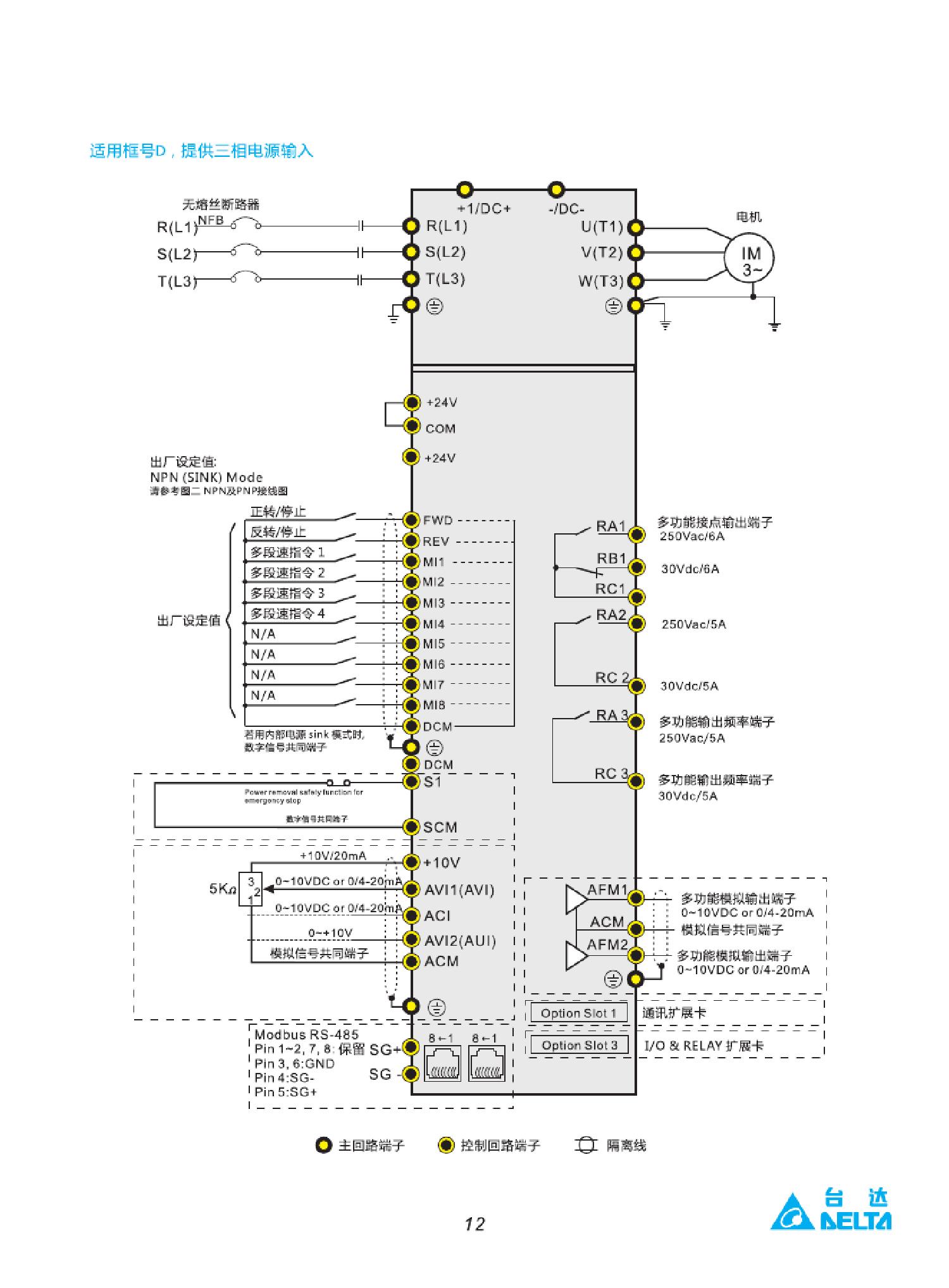 台达变频器vfd022cp43a-21