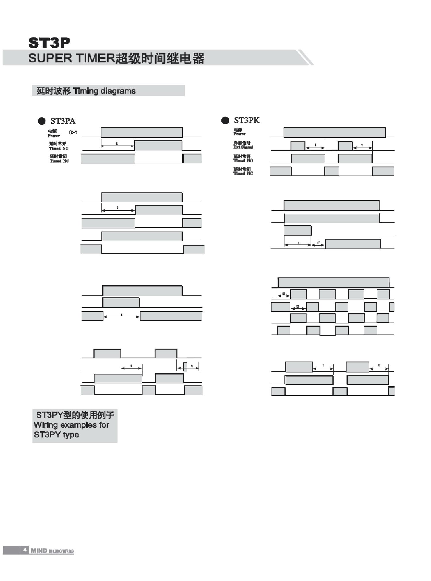 明达时间继电器st6p-4n 新型单档式 通电延时4转换 延时范围为0.